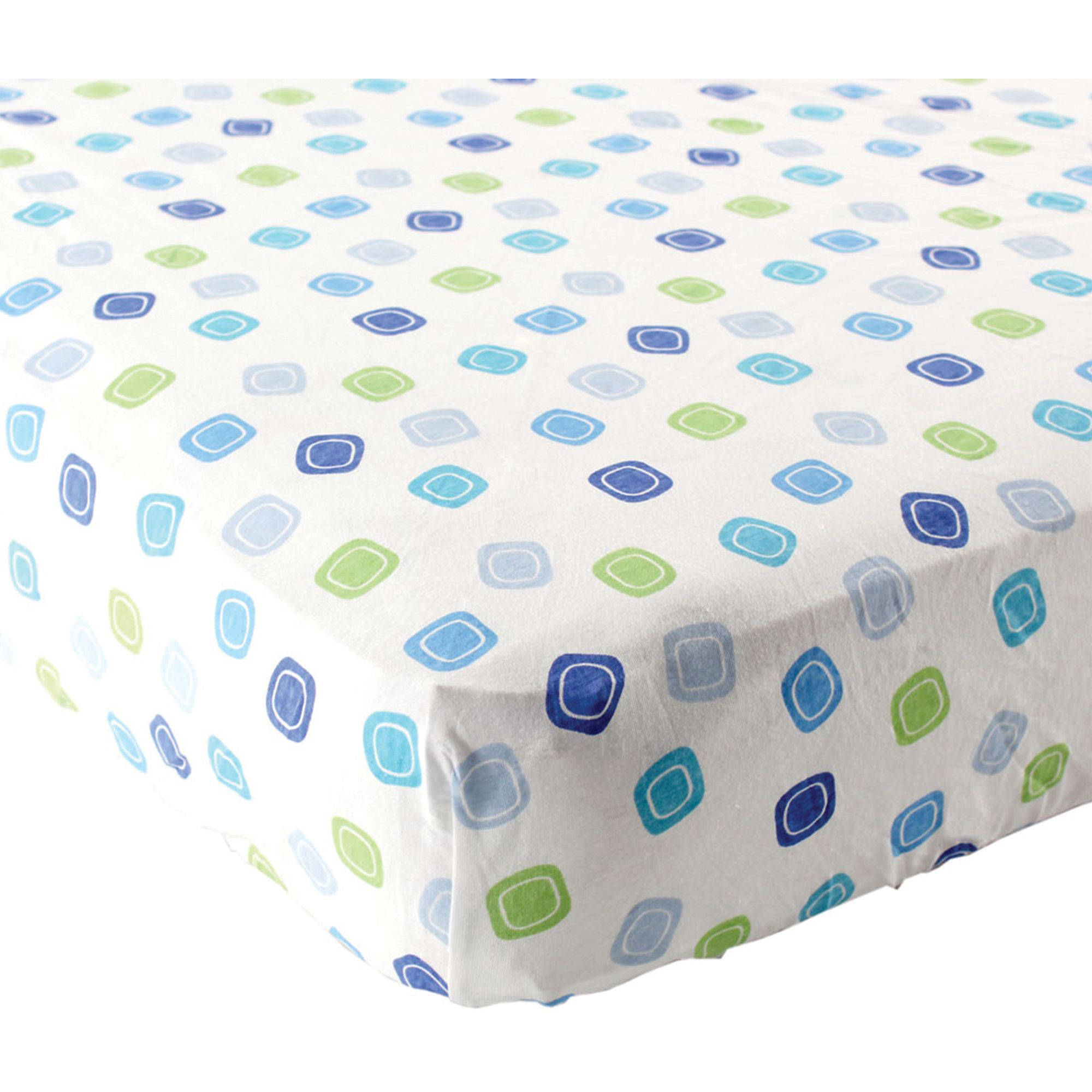 Luvable Friends Geometric Fitted Crib Sheet, Blue