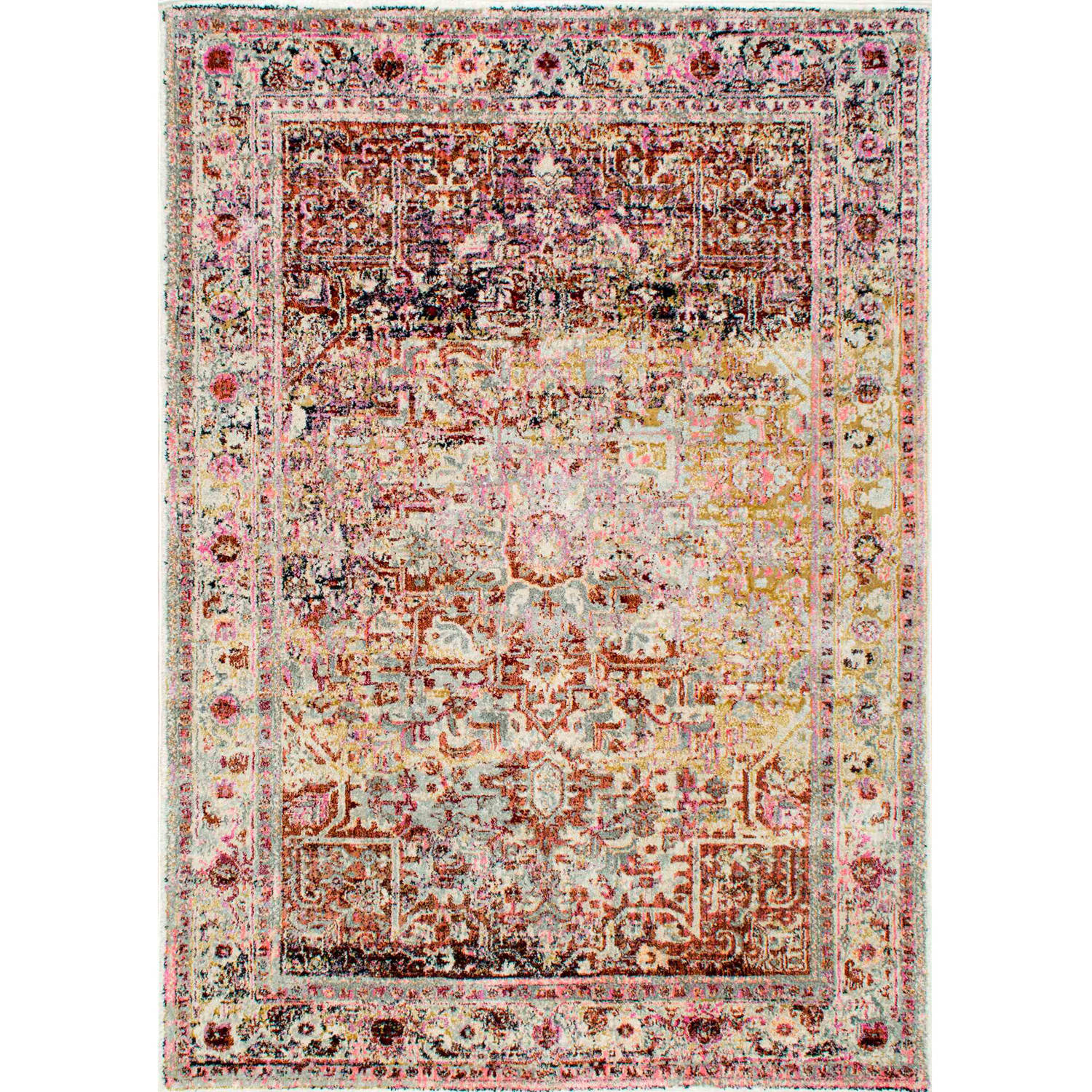 nuLOOM Machine-Made Vintage Farrah Area Rug or Runner