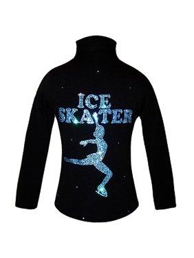Black Jacket Aqua Crystals Skater Design Girl 4- Women L