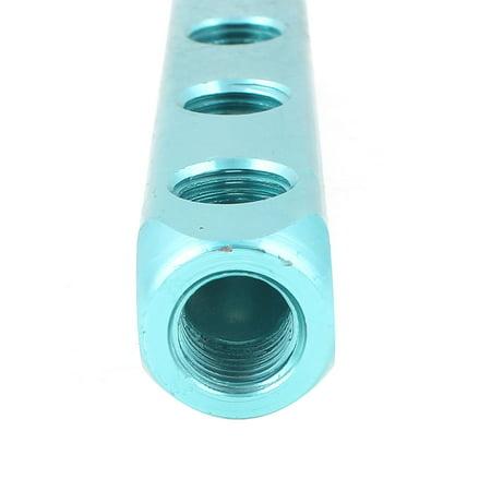 Aluminum 1/4BSP 4 Way 7 Port Quick Connect Air Hose Manifold Block Splitter - image 2 of 3