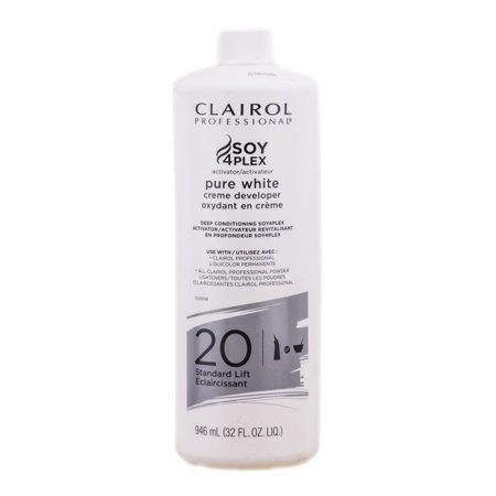 - Clairol Pure White Creme Developer - Standard Lift - Option : 20 Volume - 32 oz