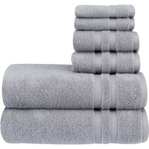 Mainstays Performance Solid 6-Piece Towel Set, Available in Various Colors by Trident Limited