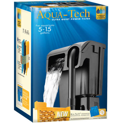 Aqua Tech 5-15 Aquarium Power Filter to Clean and Maintain Tanks