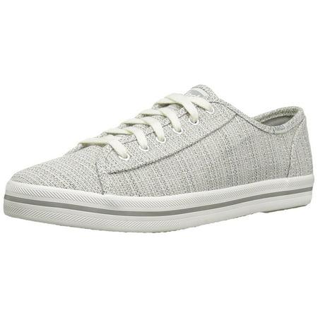 Keds Women's Kickstart Woven Fashion Sneaker,Light Gray,6.5 M US