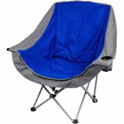 Ozark Trail Padded Club Chair, Blue/Gray