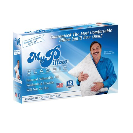 MyPillow Classic Queen Size Pillow, Medium Support