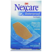 Nexcare Waterproof Clear Bandages Knee & Elbow 8 Each (Pack of 6)