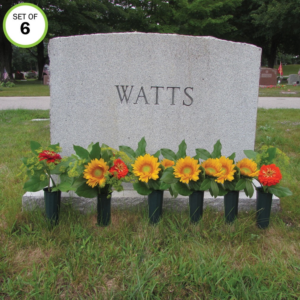 Evelots Cemetery Cone Vases With Stakes 10 L Graveside Memorial Set Of 6 Walmart Com Walmart Com