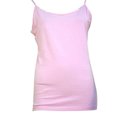 e0b09461813308 Simplicity - Solid Color Long Cami Tank Top Plain Basic Stretch Layering  Tee Shirt - Walmart.com