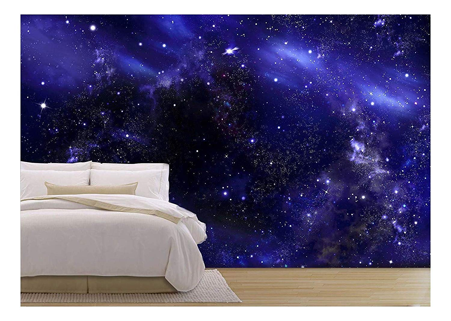 Wall26 Starry Night Sky Deep Outer Space Removable Wall Mural