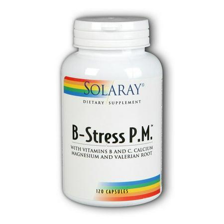 Solaray B Stress PM Capsules, 120 Ct