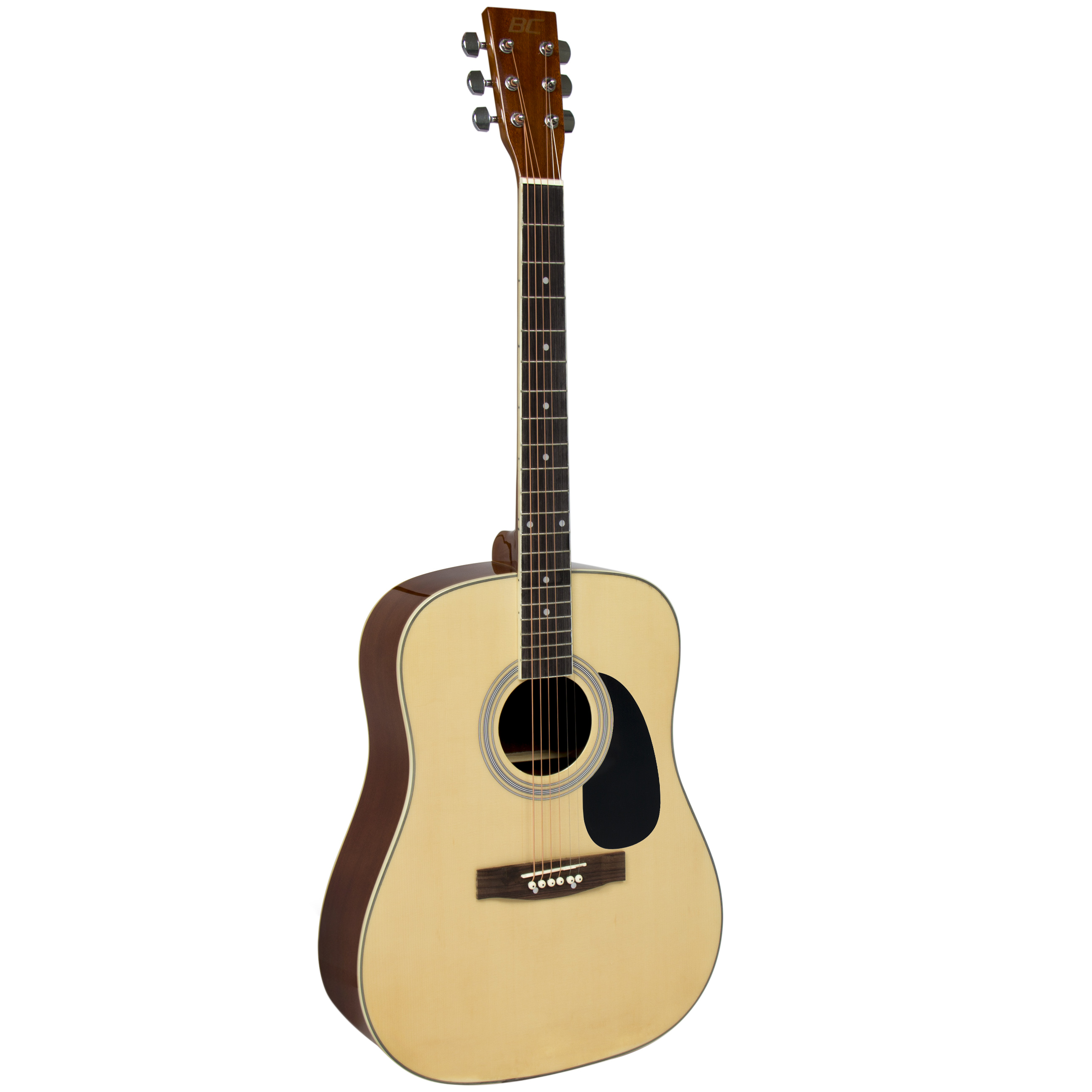 acoustic guitar 41 full size natural includes guitar case strap and more. Black Bedroom Furniture Sets. Home Design Ideas