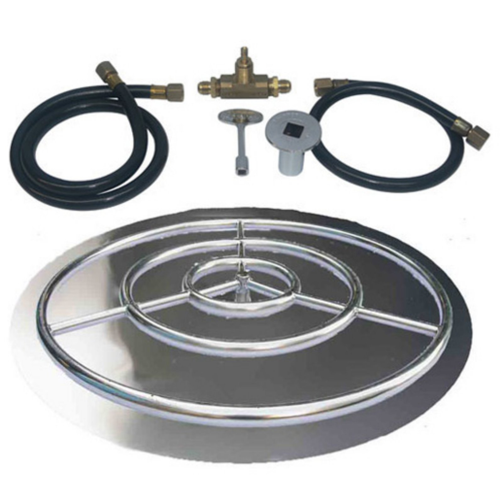 Tretco Stainless Steel Fire Pit Pan Ring Kit