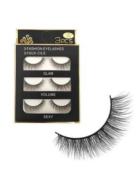 e249a42b48f Product Image 3 Pairs Handmade False Eyelashes Messy Cross Thick Natural  Fake Eye Lashes 3D Mink False Eye