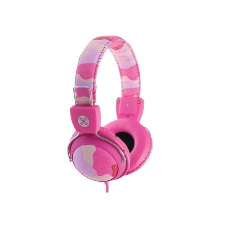 7911258a33f Moki Camo Headphones With In-Line MIC and Control Pink Acchpcamp -  Walmart.com