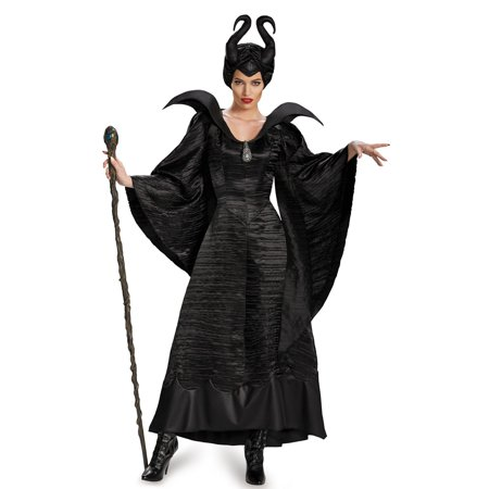 Maleficent Adult Costume (Maleficent Deluxe Christening Black Long Gown Adult)