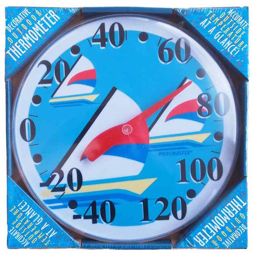 Poolmaster Sailboat Wall Thermometer by Poolmaster
