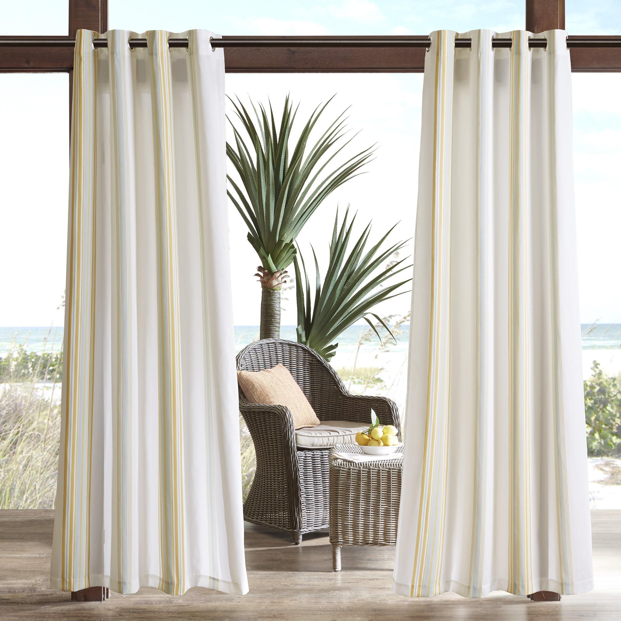 Home Essence Ventura Printed Stripe 3M Scotchgard Outdoor Panel