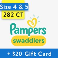 Deals on Walmart: Buy 2 Pampers Swaddlers Diapers and Get $20 Gift Card