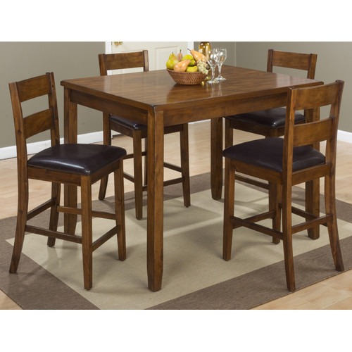 Jofran Plantation 5 Piece Counter Height Pub Table Set