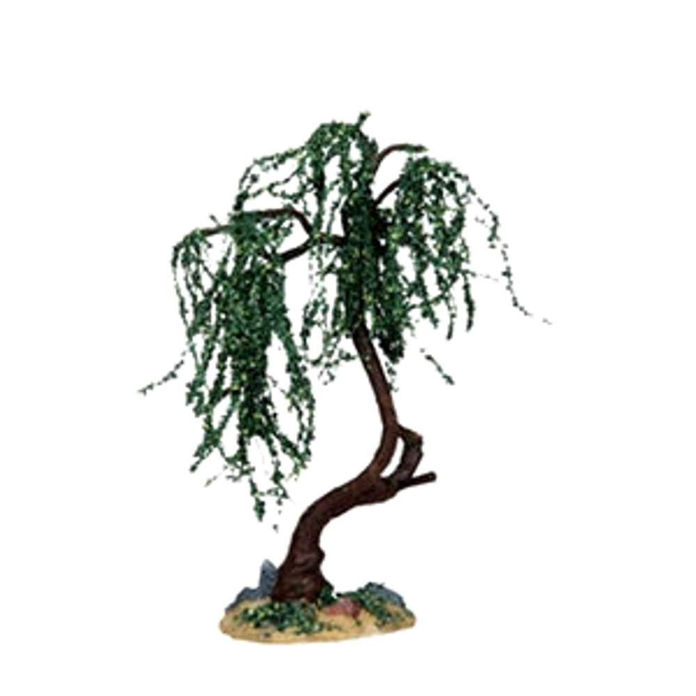 "Lemax 14373 GREEN WILLOW MEDIUM 6"" Christmas Village Landscape Accessory S O Scale"
