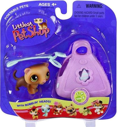 Littlest Pet Shop Portable Pets Ferret Figure [In Purse]