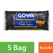 (6 Pack) Goya No. 1 Grade Black Beans, 16 oz Bag