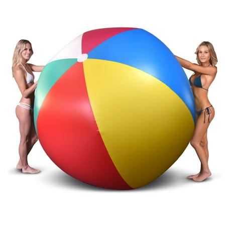 GoFloats Giant Inflatable Beach Ball, 6' - Large Inflatable Beach Ball