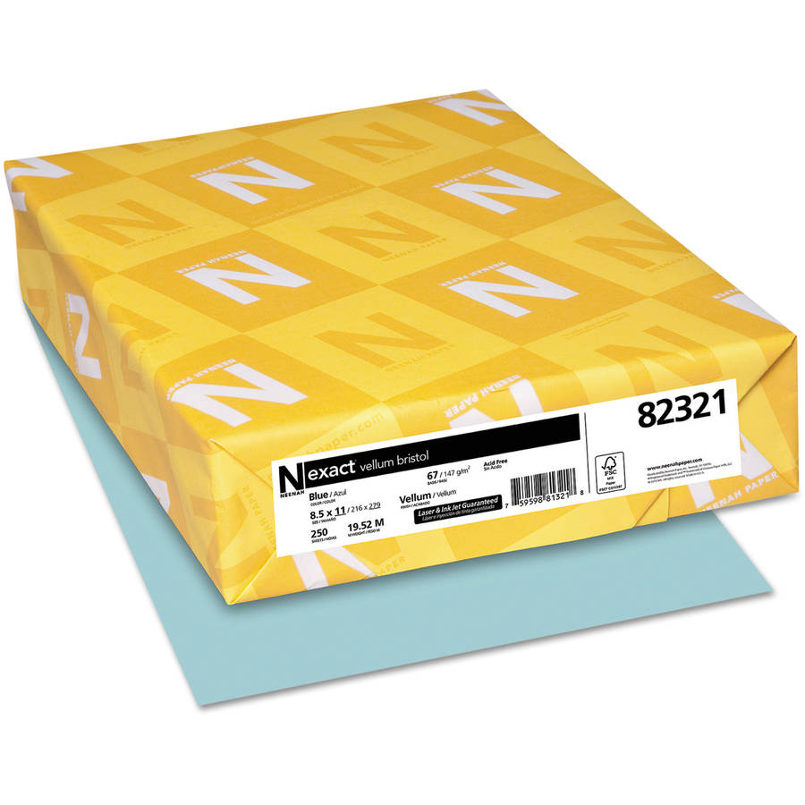 Wausau Paper Exact Vellum Bristol Cover Stock, 67 lbs., 8-1/2 x 11, 250 Sheets