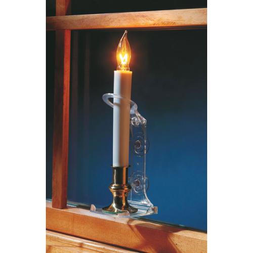 pack of 2 deluxe safety christmas candle holders with suction cups
