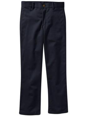 George Boys School Uniform Flat Front Twill Pant With Scotchguard (Little Boys & Big Boys)