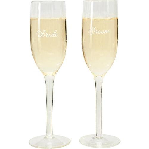 "Wilton 8.25"" Bride & Groom Wedding Toasting Glasses, 2 ct. 120-1155"