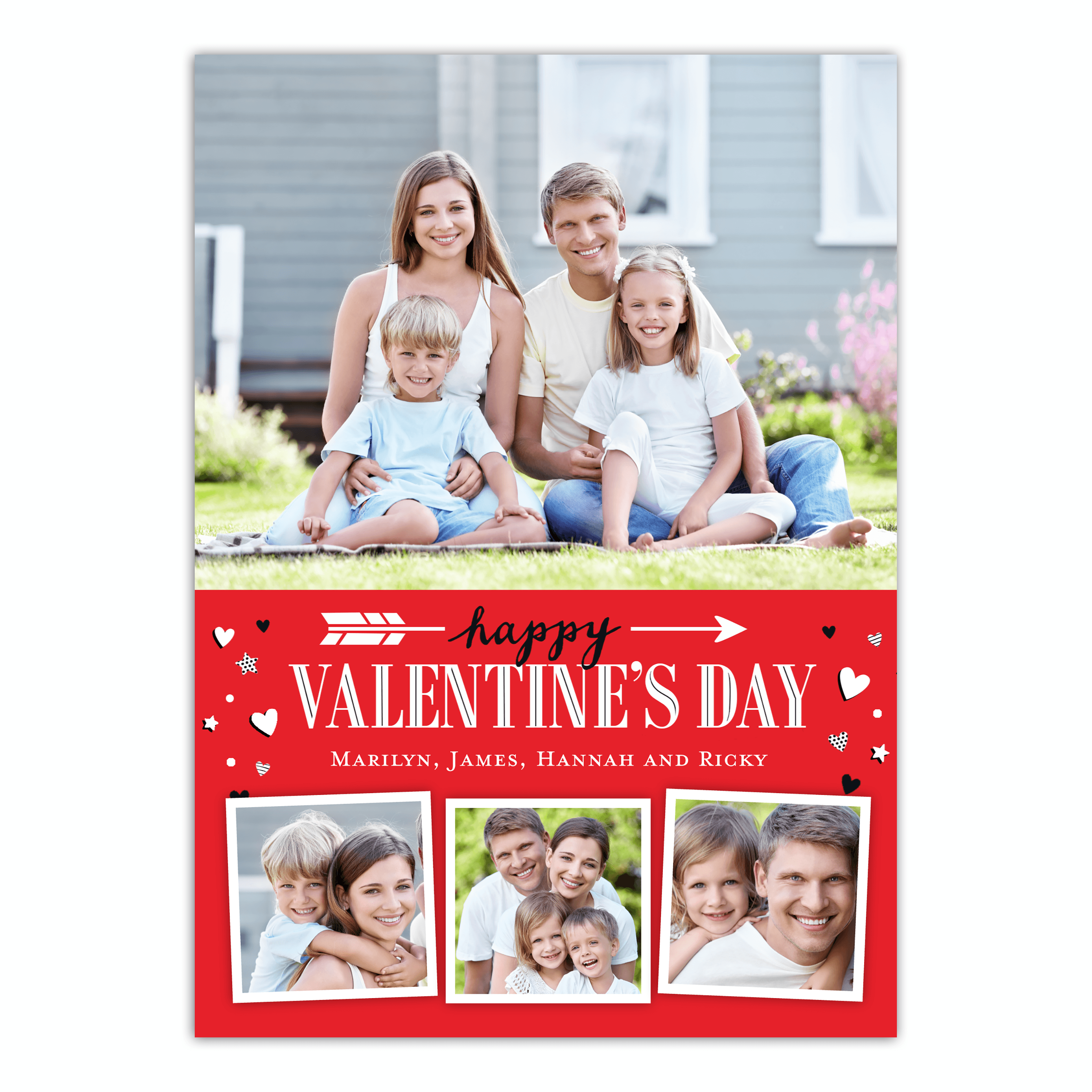 Personalized Valentines Day Greeting Card - Playful Arrow