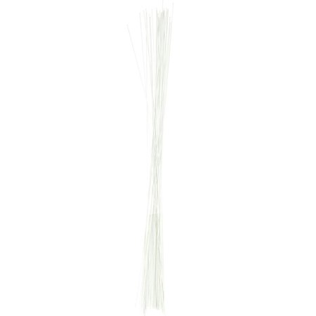 Aluminum Floral Wire, White, 26 Gauge, 18-Inch, 40 Count (Floral Wire)