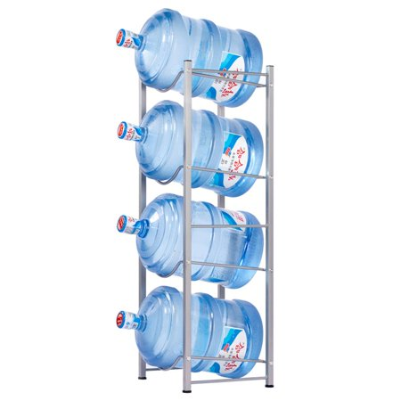 Zimtown Water Bottle 4 Tier Cabby Rack, 5 Gallon Water Bottle Storage Rack (Bff Water Bottles)