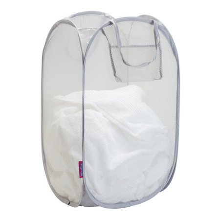 Woolite Compact Sanitized Mesh Foldable Pop-Up Hamper ()