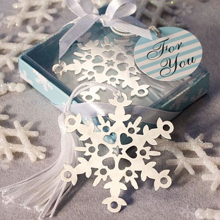 36 Snowflake Bookmark Favors