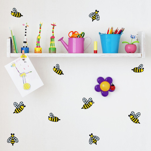 Walls Need Love Honey Bees Mini-Pack Wall Decal