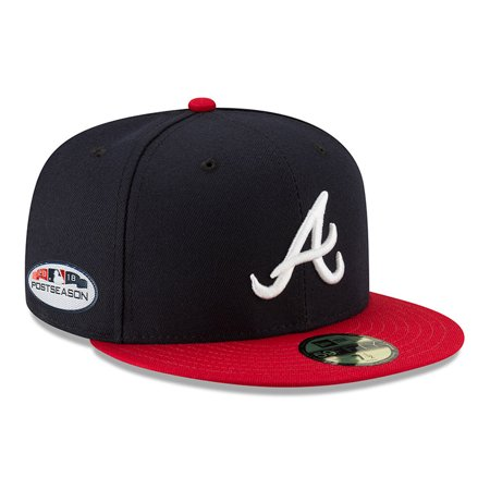 Atlanta Braves New Era 2018 Postseason Side Patch 59FIFTY Fitted Hat - Navy - Atlanta Braves Hats