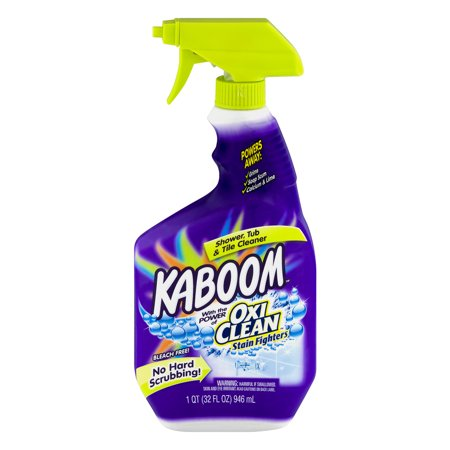 Kaboom With The Power Of Oxi Clean Stain Fighters Shower Tub Tile Cleaner 32 0 Fl Oz