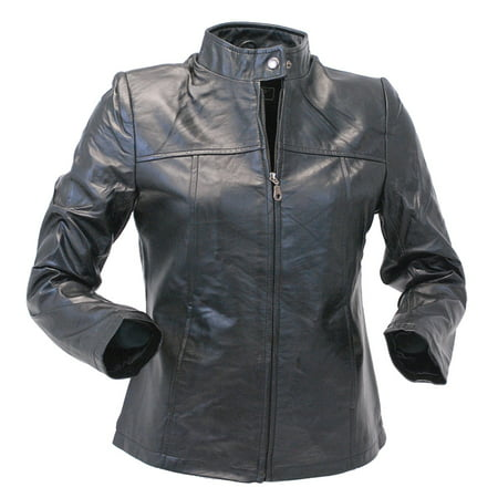 Lambskin Leather Scooter Jacket for Women #L602K