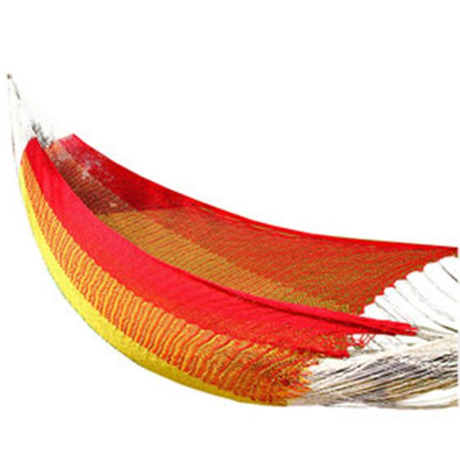Amber Home Goods Mayan Single Hammock Rainbow