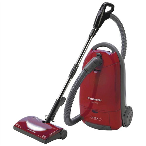 Panasonic Mc-cg902 Canister Vacuum Cleaner 12 A - Bagged - Burgundy (mccg902)
