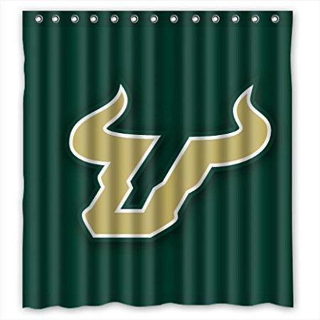 Ganma South Florida Bulls Shower Curtain Polyester Fabric Bathroom Shower Curtain 66x72 inches (Florida Gators Shower Curtain)