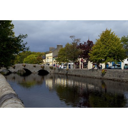 Bridge over the River Carrowbeg Running Through The Mall Westport County Mayo Ireland Canvas Art - Panoramic Images (36 x (Quick Bridge Mall)