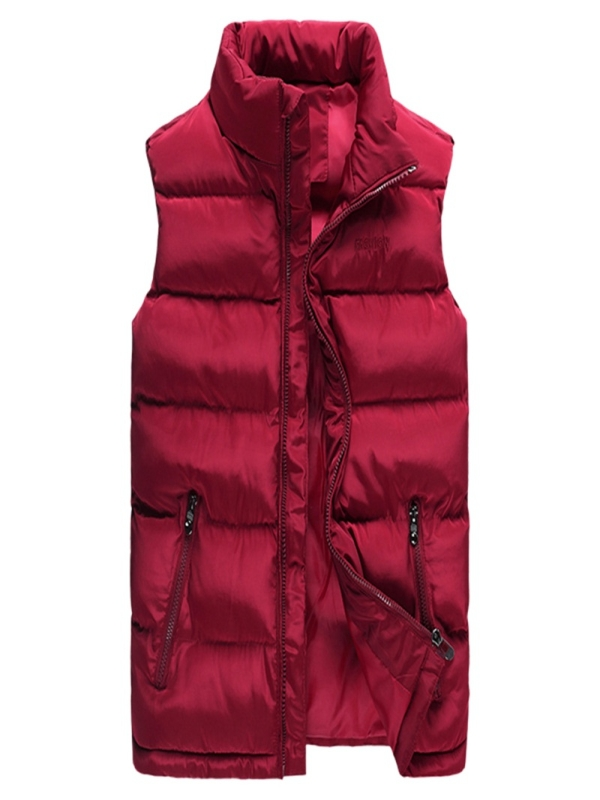 Men/'s Winter Down Quilted Vest Body Warmer Warm Sleeveless Padded Jacket Coat