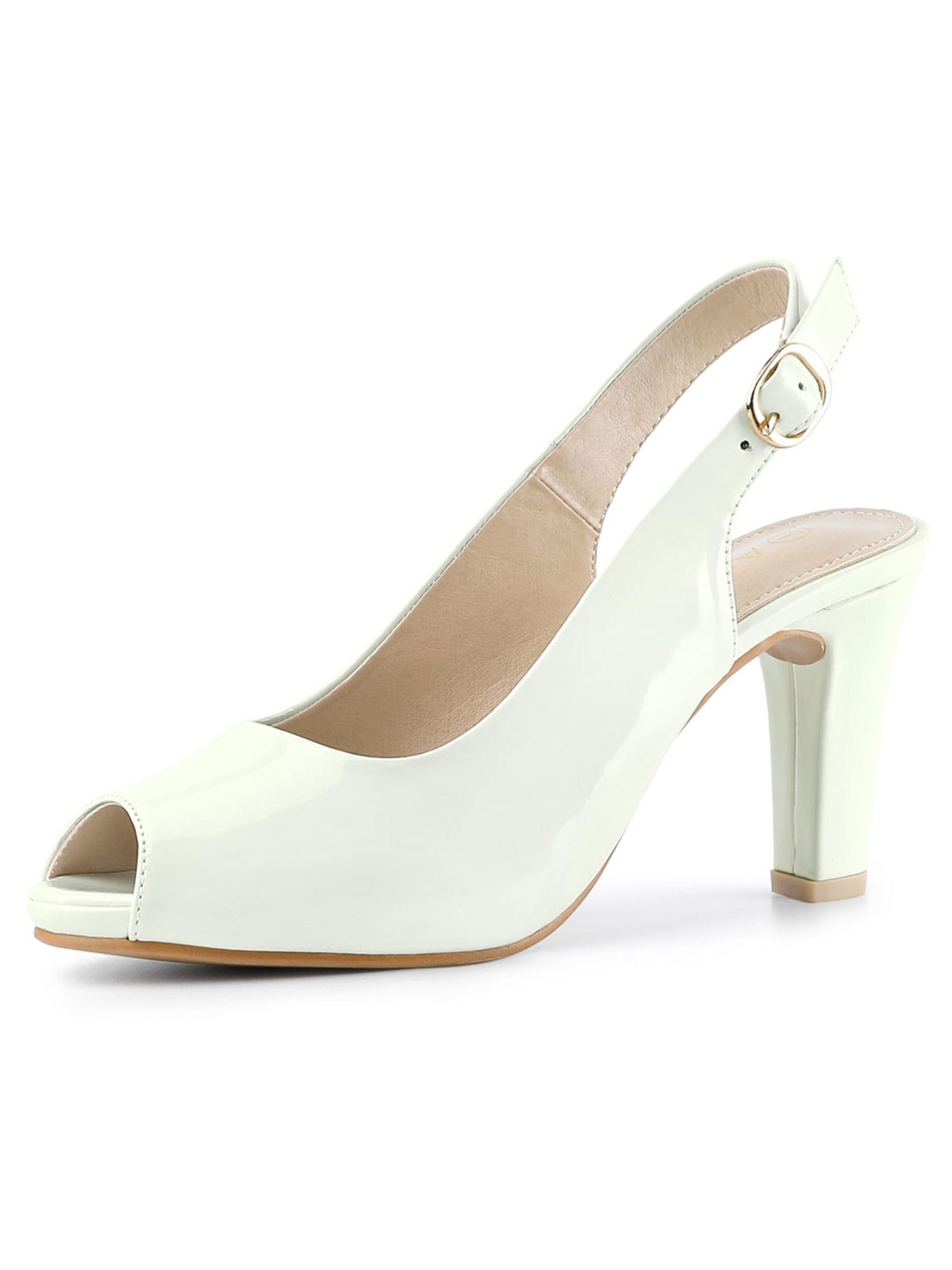 Allegra K Women's Peep Toe Ankle Strap