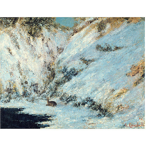 "Trademark Fine Art ""Snowy Landscape, 1876"" Canvas Art by Gustave Courbet"