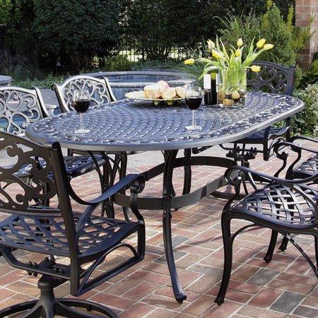 Astoria Grand Van Glider Oval Outdoor Dining Table