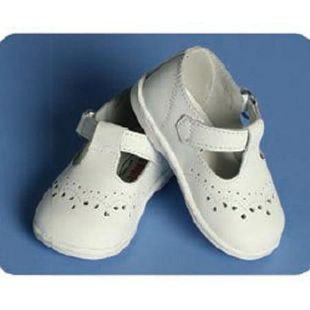Angel Baby Girls White Classic Christening Shoes